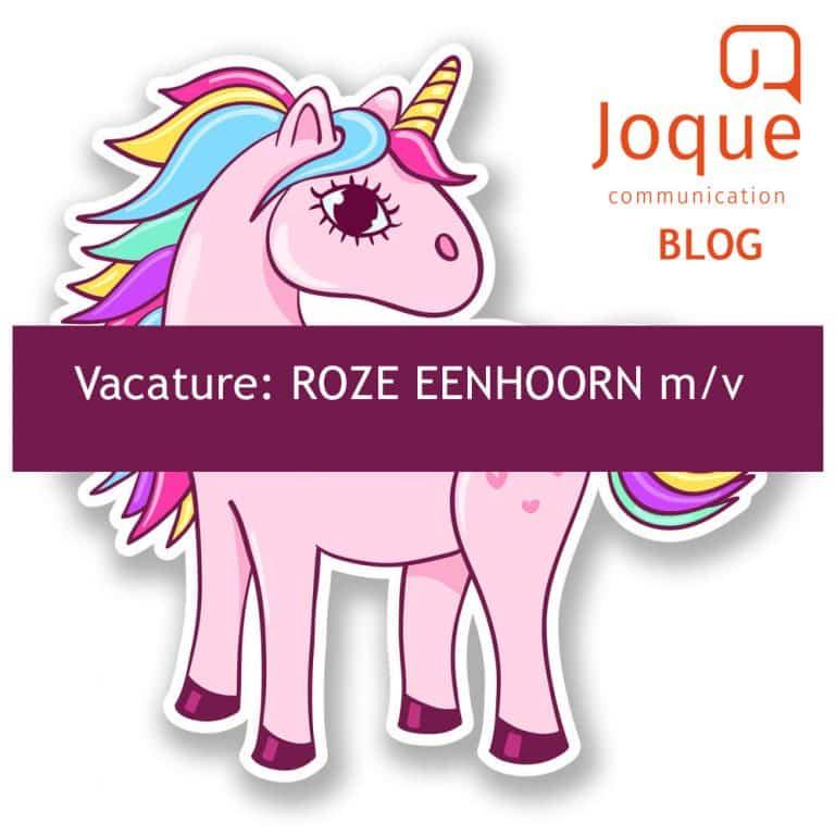 Blog. Joque Communication. Joke van der Mast