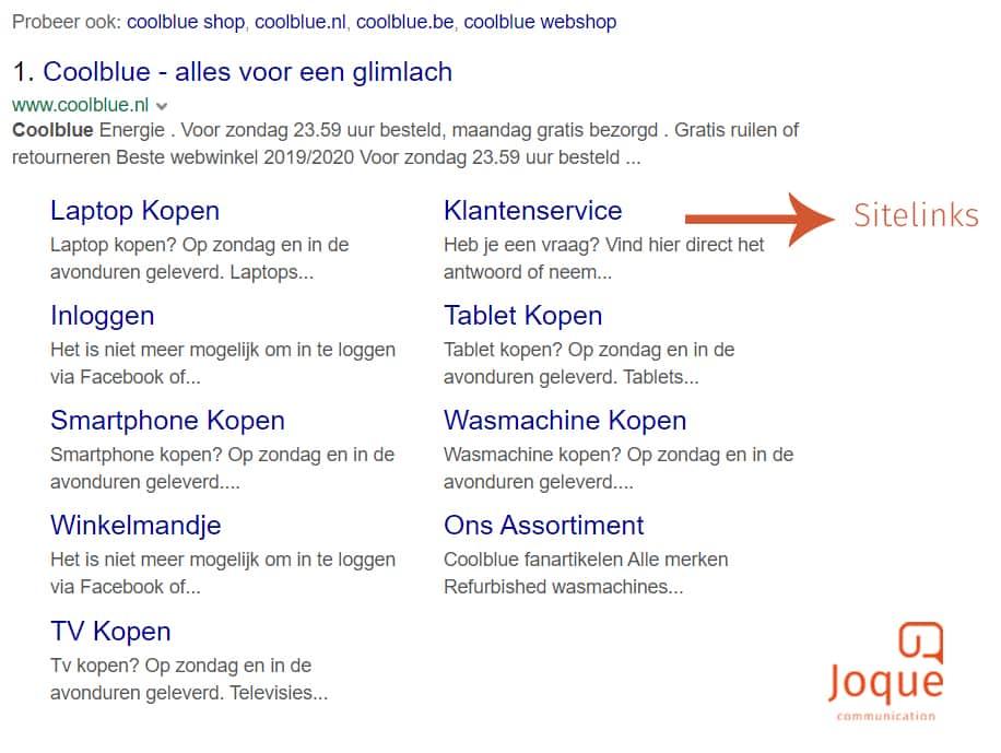 Sitelinks_SERP_features_Rich_Snippets_Joque_Communication