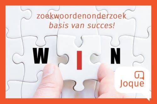 Zoekwoordenonderzoek is de basis van succes, blog over zoekwoordenonderzoek, SEO, Joque Communication