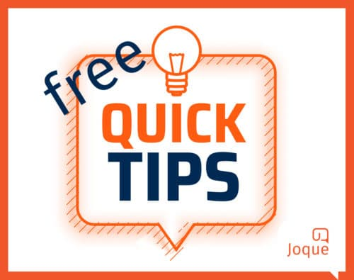Gratis SEO tips, tips om hoger te scoren in Google, Joque Communication