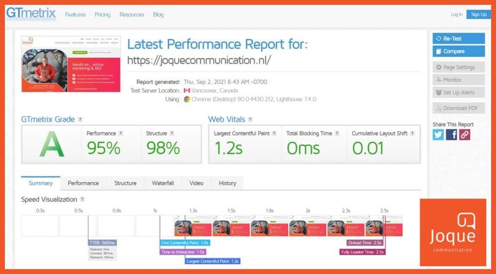 SEO analyse uitvoeren laadsnelheid Google ranking factor Core Web Vitals
